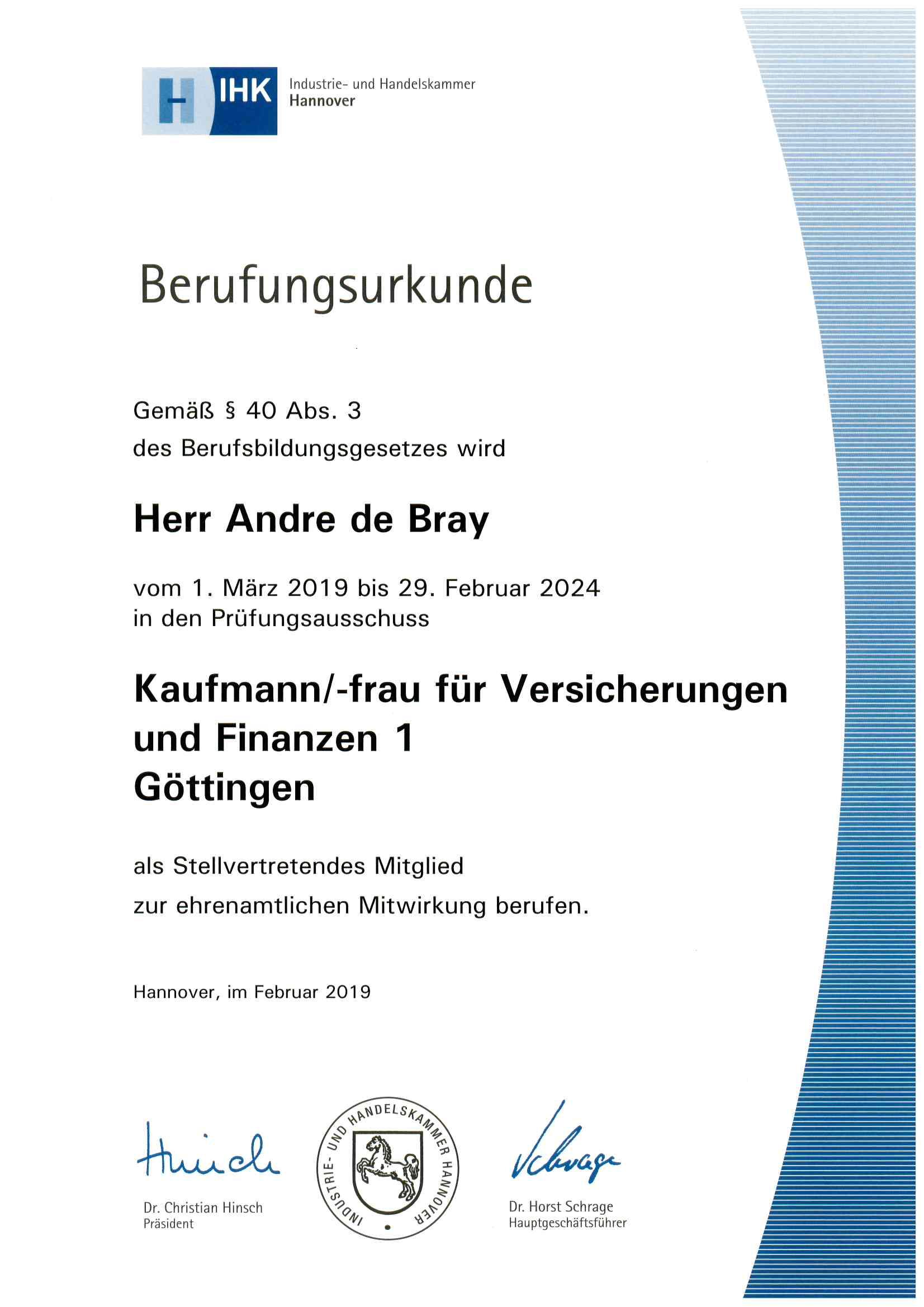 Zertifikat AdB Kfm